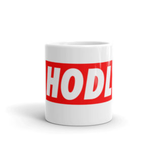 HODL cryptocurrency Cup and Handle